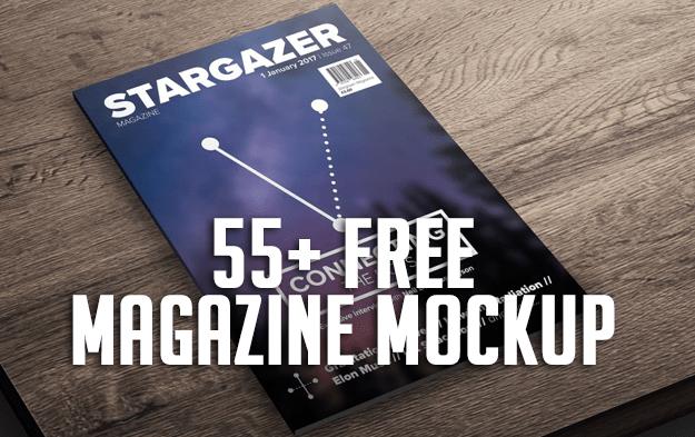 55+ Free Magazine Mockup