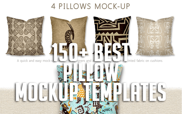 150+ Best Pillow Mockup Templates