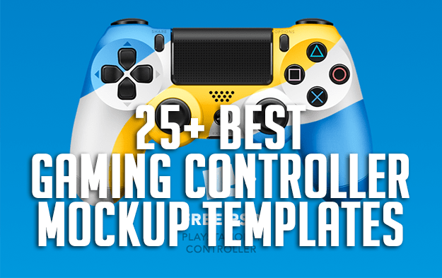 25+ Best Gaming Controller Mockup Templates