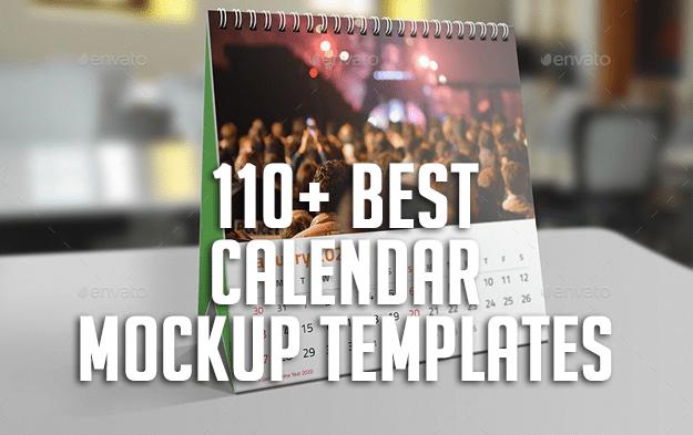 110+ Best Calendar Mockup Templates