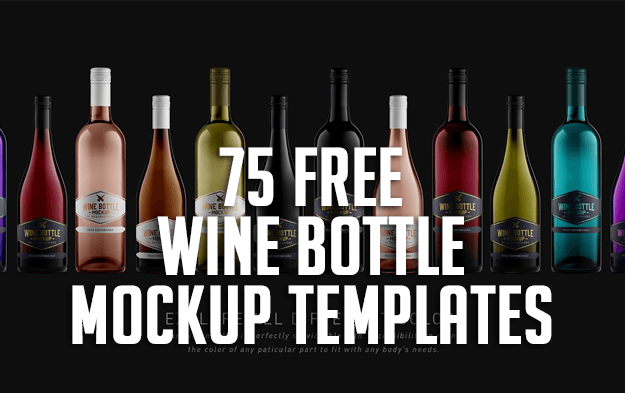 75 Free Wine Bottle Mockup Templates