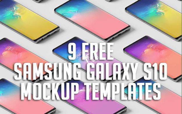 9 Free Samsung Galaxy S10 Mockup Templates