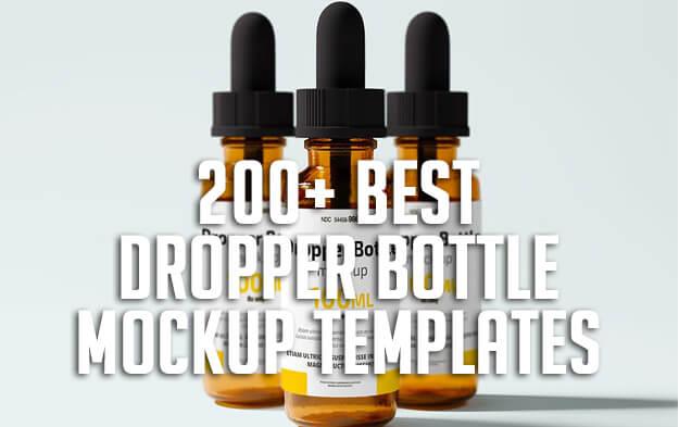 200+ Best Dropper Bottle Mockup Templates