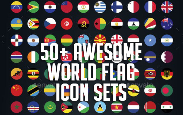 50+ Awesome World Flag Icon Sets
