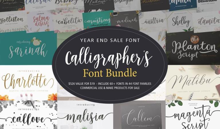 Calligrapher's Font Bundle 98% Off