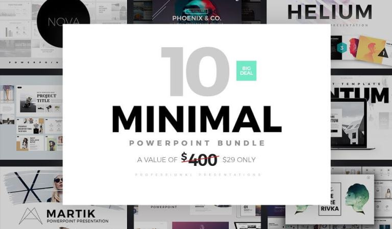 Minimal PowerPoint Templates Bundle 93% Off
