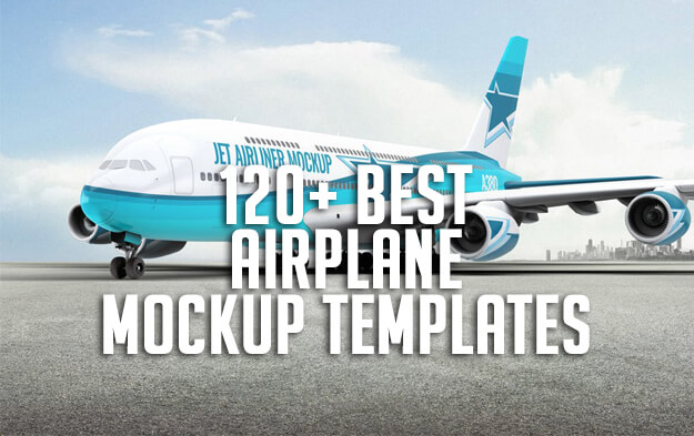 120+ Best Airplane Mockup Templates