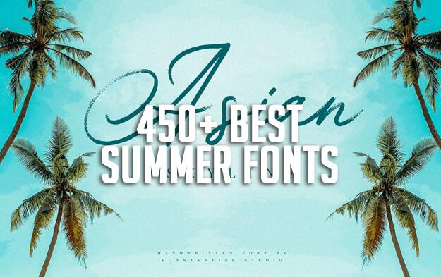 450+ Best Summer Fonts for 2020
