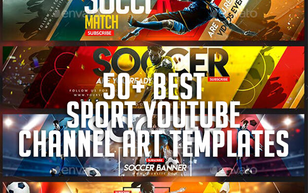 50+ Best Sport Youtube Channel Art Templates | Premium Templates