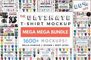 Ultimate T-Shirt Mockup Mega Bundle 86% Off