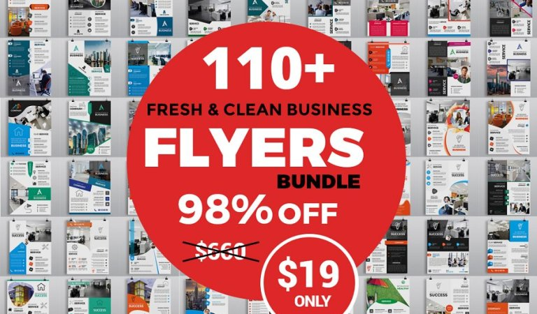 110+ Clean Business Flyers 98% Off