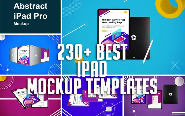 230+ Best iPad Mockup Templates