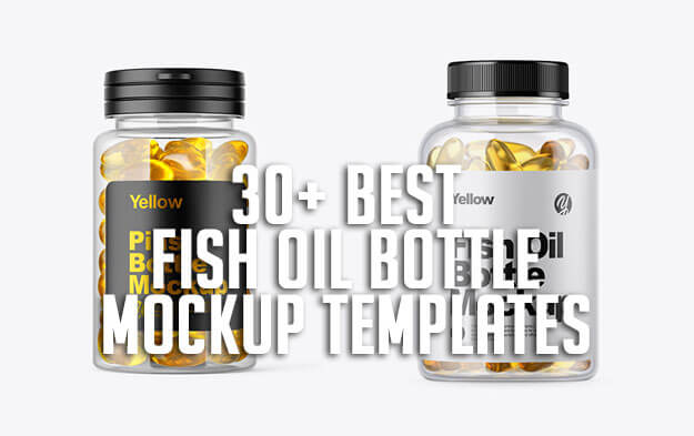 30+ Best Fish Oil Bottle Mockup Templates