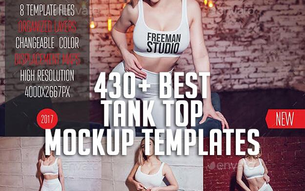 430+ Best Tank Top Mockup Templates