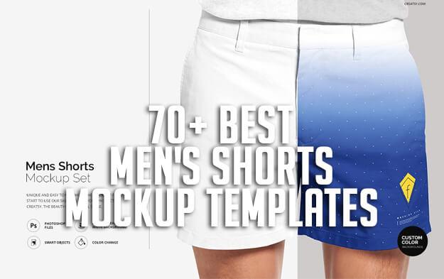 70+ Best Men's Shorts Mockup Templates
