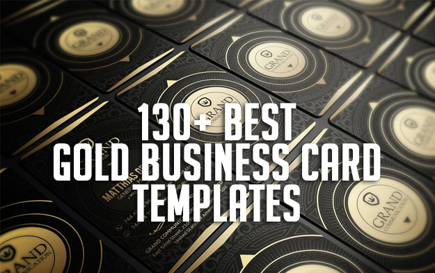 130+ Best Gold Business Card Templates