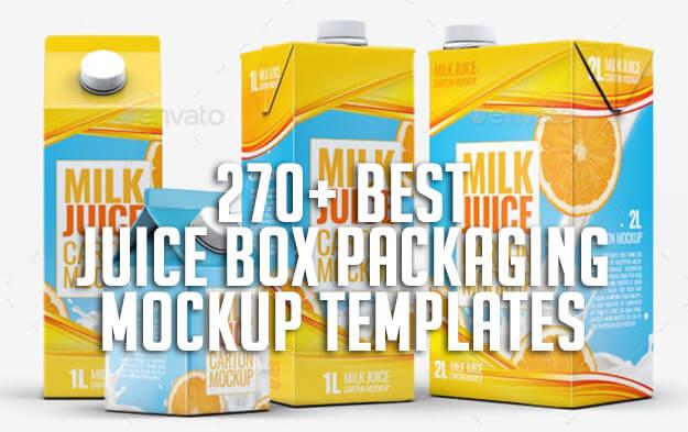 270+ Best Juice Box Packaging Mockup Templates