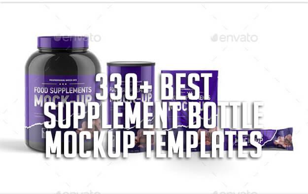 330+ Best Supplement Bottle Mockup Templates