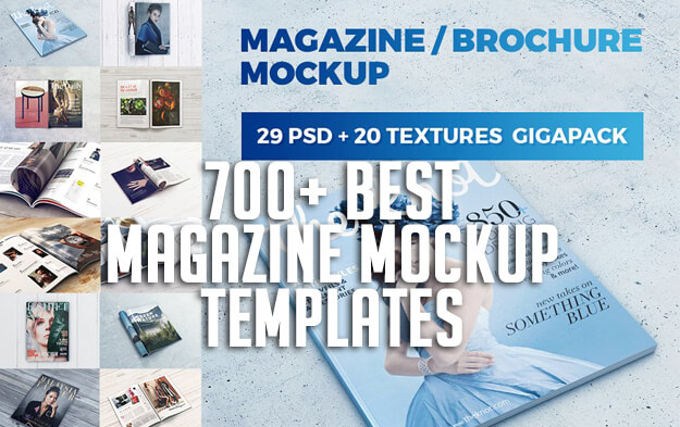 700+ Best Magazine Mockup Templates