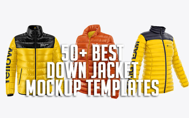 50+ Best Down Jacket Mockup Templates
