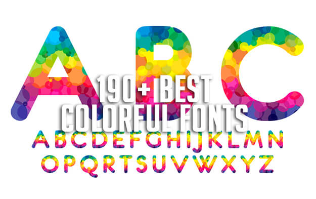 190+ Best Colorful Fonts for 2020