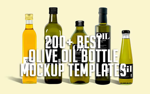200+ Best Olive Oil Bottle Mockup Templates
