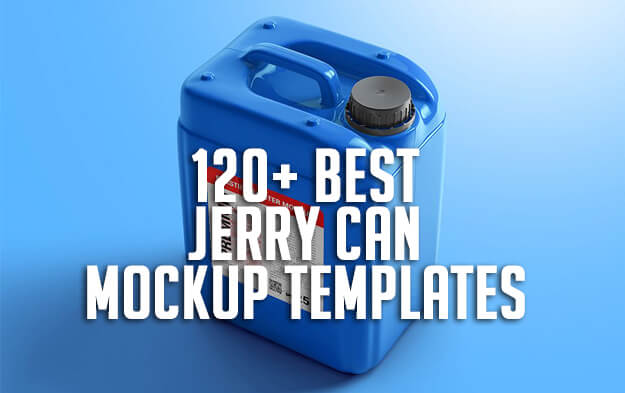 120+ Best Jerry Can Mockup Templates