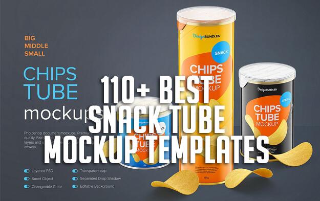 110+ Best Snack Tube Mockup Templates