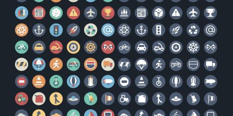 Graphic Ghost - 384 Beautiful Flat Icons