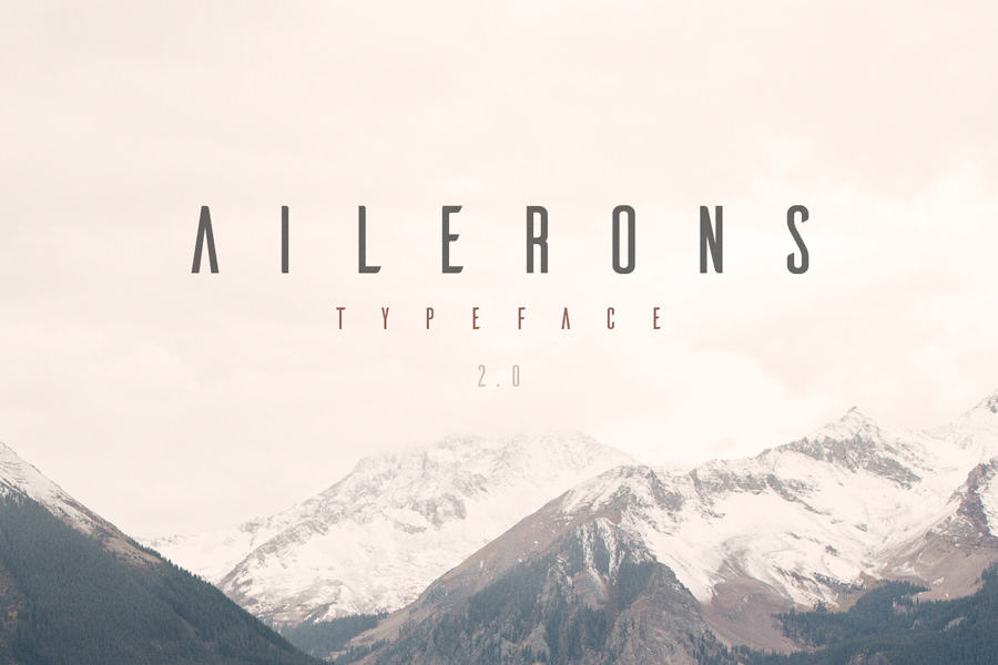 Graphic Ghost - Ailerons Typeface