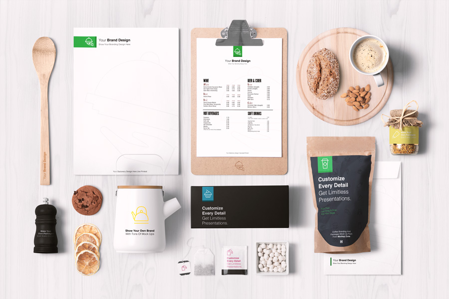 Coffee Branding And Packages Mockup - Graphic Ghost