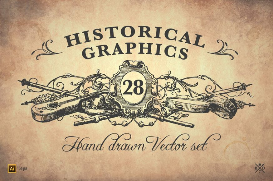 Graphic Ghost - August Deal 01 - Basari Design - 28 Historical Graphics