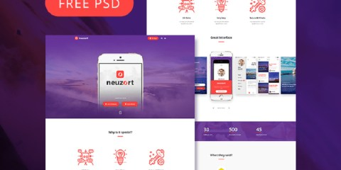 Graphic Ghost - Neuzort Landing Page PSD