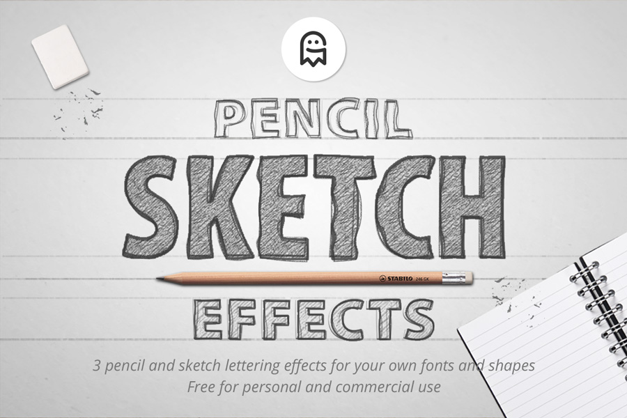 Pencil Sketch Effects - Graphic Ghost