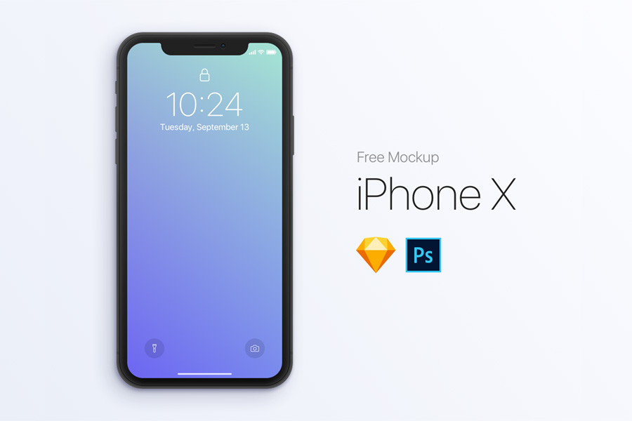 Graphic Ghost - iPhone X - PSD & Sketch Mockup