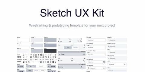 Graphic Ghost - Sketch UX Kit for Wireframing and Prototyping
