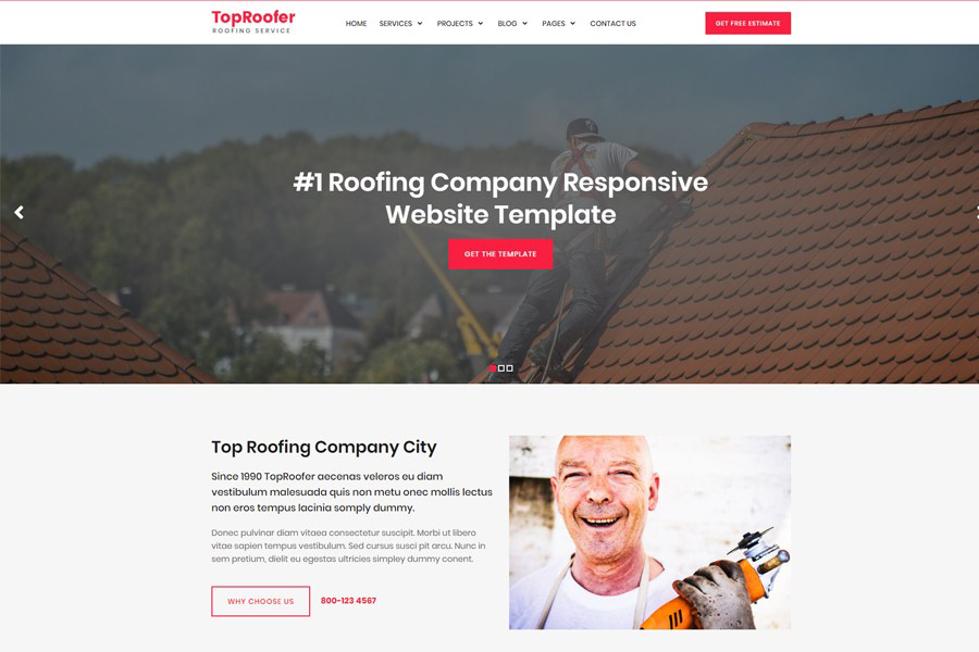 Graphic Ghost - Roofing Service Website Template