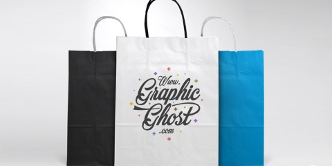 Graphic Ghost - Free Paper Bag Mockup