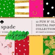 Graphic Ghost - Kate Spade Inspired Digital Prints