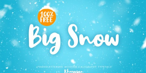 Graphic Ghost - Big Snow - Free Hand Lettering Font