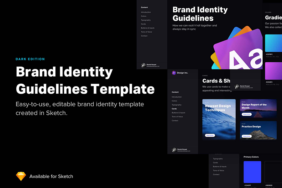 Graphic Ghost - Brand Identity Guidelines Template for Sketch