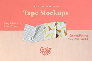 Graphic Ghost - Free Washi Tape PSD Mockups