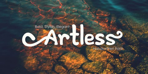 Graphic Ghost - Artless -Handwritten Font Demo