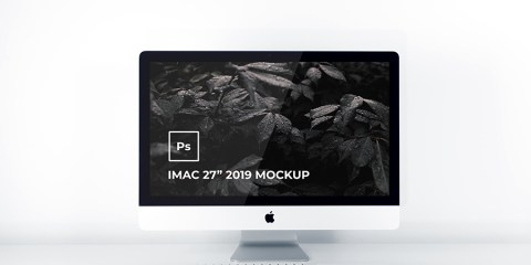 Graphic Ghost - Free iMac 2019 Mockup