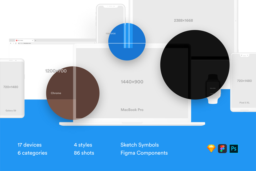 Graphic Ghost - Free Vector Screen Mockups Library