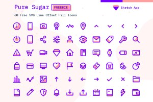 Graphic Ghost - Pure Sugar - Free Set of 60 SVG Icons