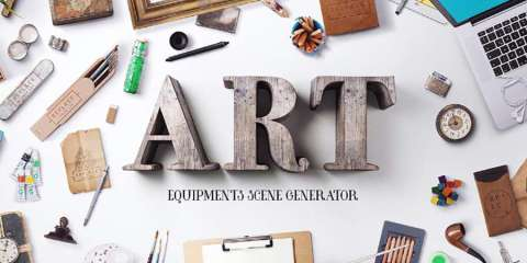 Graphic Ghost - Art Equipments Scene Generator