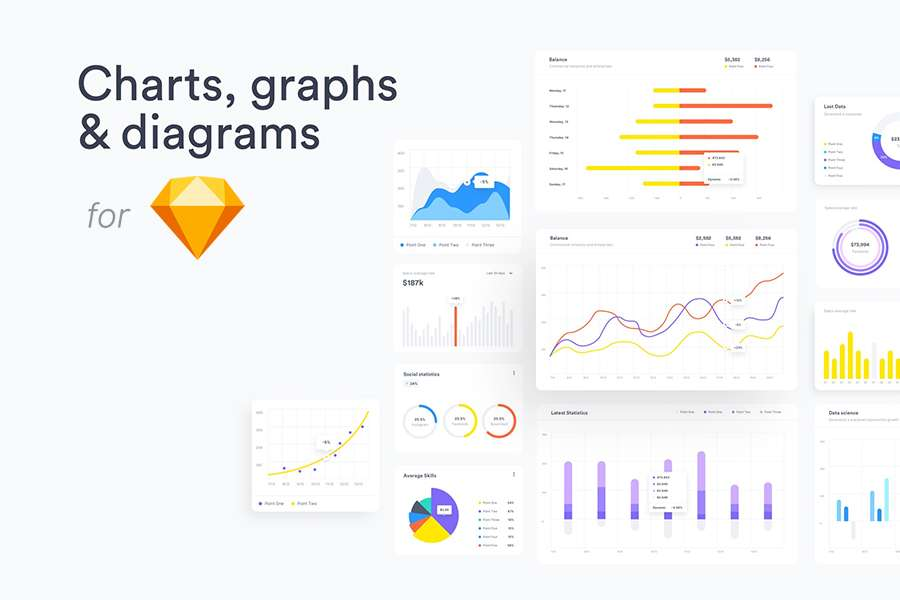 Graphic Ghost - Free Charts, Graphs & Diagrams for Sketch
