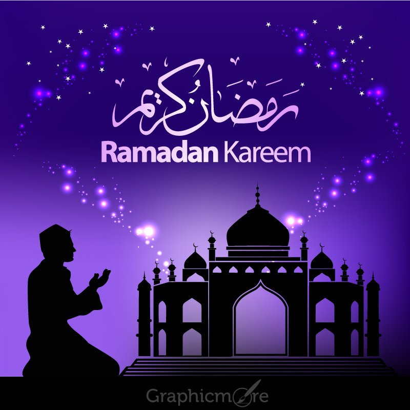 Ramadan Kareem Greeting Card Design By GraphicMore