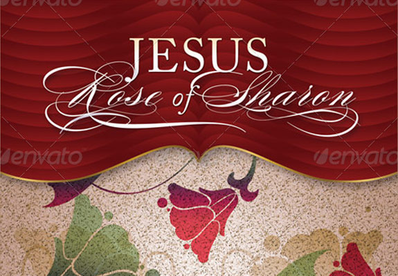 Jesus Rose of Sharon Church Flyer and CD Template